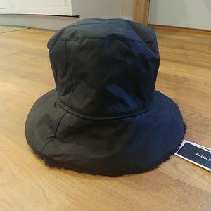 NWT Nine West faux Fur Lined Waterproof Bucket Hat